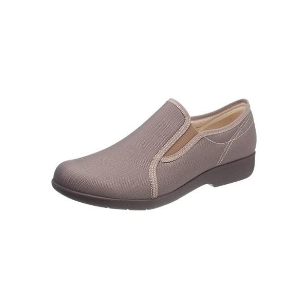 asahi shoes(アサヒシューズ) 快歩主義 介護靴 KHS L134 C265【グレーブラウン】 レディース KS23502