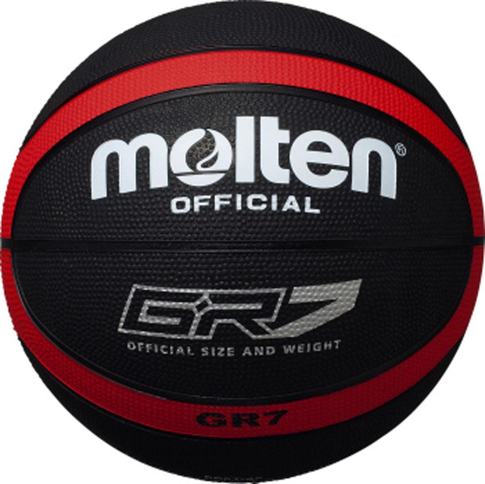 molten モルテン バスケットボール ボール 7号球 GR7 ブラック 初売り レッド 女性用 赤 レディース メンズ 男性用 高い素材 BGR7KR 黒 {SK}