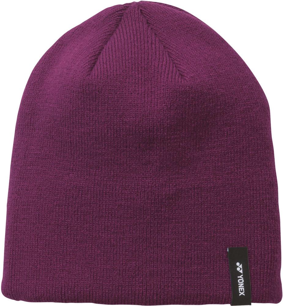 YONEX ヨネックス テニス ボウシ 帽子 ユニビーニー ニット帽 ワインレッド タイムセール 41043 21 男性用 レディース 女性用 037 {NP} 紫 メンズ ファッション通販
