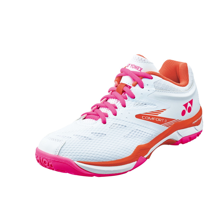 YONEX ヨネックス バドミントン シューズ 激安通販ショッピング 靴 スニーカー パワークッションコンフォート3ウィメン 室内用 ホワイト 062 白 {SK} SHBCF3L 女性用 レディース ピンク 21 年中無休