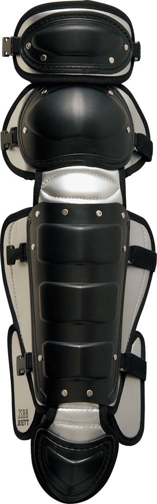 ZETT(ゼット) 野球 キャッチャーズギア 軟式野球用レガーツ 【ブラック/シルバー】 BLL3233