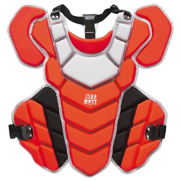 ZETT(ゼット) 野球 キャッチャーズギア PROSTATUS(プロステイタス) 軟式野球用プロテクター 【レッド/Sグレー】 BLP3295