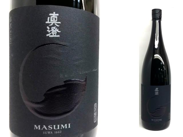 真澄 永遠の定番 純米吟醸 漆黒KURO 1.8L 実物