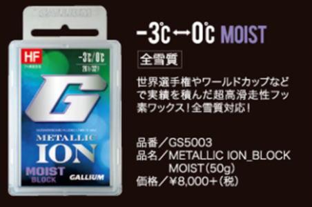 GALLIUM ガリウム METALLIC ION BLOCK MOIST