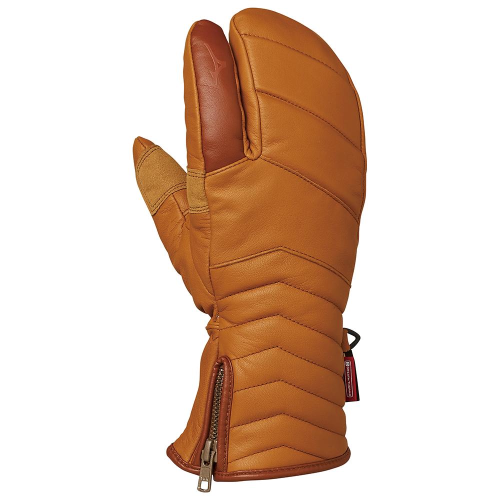 送料無料、ミズノ【MIZUNO】レザー3フィンガーグラブLeather 3 Finger Gloves【スキー用手袋】