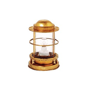 日本船燈 ポーチライト 直置式 真鍮板製 送料無料 船舶電装品