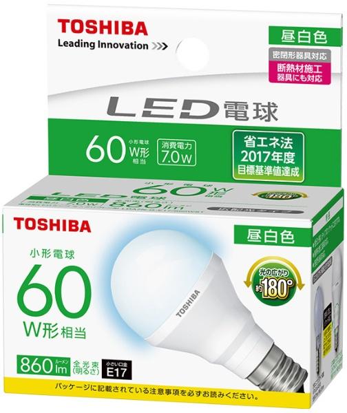 東芝 LDA7N-G-E17/S60WST 10個 昼白色 60W相当 口金E17 広配光タイプ 非調光