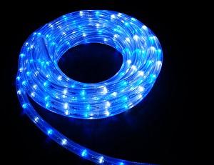 イルミネーション LEDルミネチューブ/6Mセット CLED6WB 白・青 防水規格IPX4 100V コントローラー付 接続・カット不可 送料無料