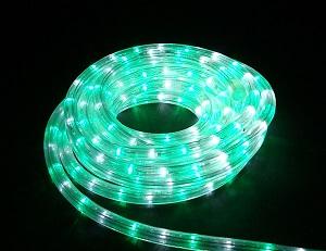 イルミネーション LEDルミネチューブ/6Mセット LED6WG 白・緑 防水規格IPX4 100V コントローラー付 接続・カット不可