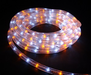 イルミネーション LEDルミネチューブ/6Mセット LED6WY 白・黄 防水規格IPX4 100V コントローラー付 接続・カット不可