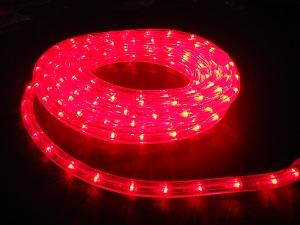 イルミネーション LEDルミネチューブ/6Mセット LED6R 赤 防水規格IPX4 100V コントローラー付 接続・カット不可