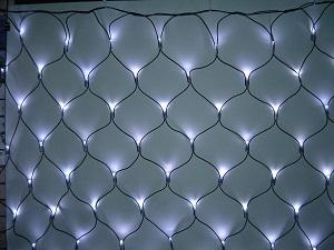 イルミネーション 180球ネットライト連結専用/電源部別売り/ブラックコード LN180W 白 ブラックコード 防水規格IPX4 100V コネクター連結可