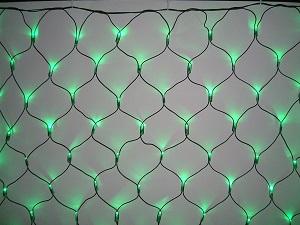 イルミネーション 180球ネットライト連結専用/電源部別売り/ブラックコード LR180G 緑 ブラックコード 防水規格IPX4 100V コネクター連結可 送料無料