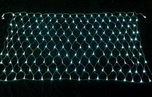 イルミネーション 180球ネットライト連結専用/電源部別売り/シルバーコード LCR180W 白 シルバーコード 防水規格IPX4 100V コネクター連結可