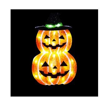 イルミネーション 2D ハロウィン かぼちゃ2段 ※代引き不可 返品不可