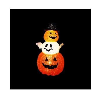 イルミネーション 3D ハロウィン かぼちゃ3段 ※代引き不可 返品不可
