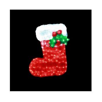 イルミネーション クリスマスブーツ レッド ホワイト ※代引き不可 返品不可