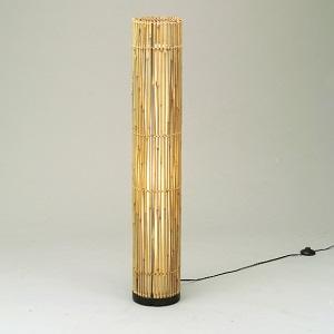 東京メタル工業 LED 照明器具 アジアン WDLT0-76Z ホワイトランプ60W付 中間スイッチ付 ビニールコード2.1m付 材質 竹