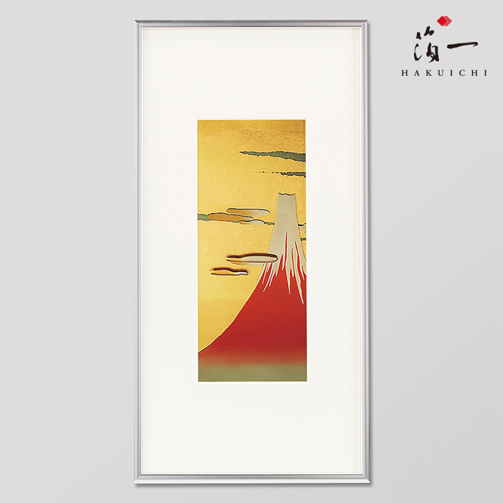 立体パネル 赤富士 金沢金箔の箔一 はくいち 有名な 誕生日 メッセージカード対応 ラッピング プレゼント ギフト 直営店