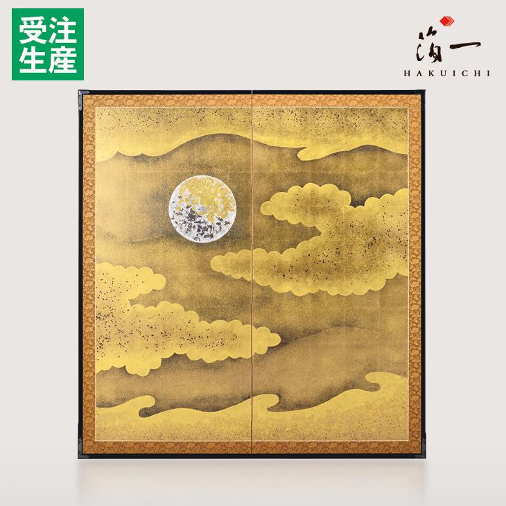 利休屏風 月と雲|金沢金箔の箔一(はくいち)|