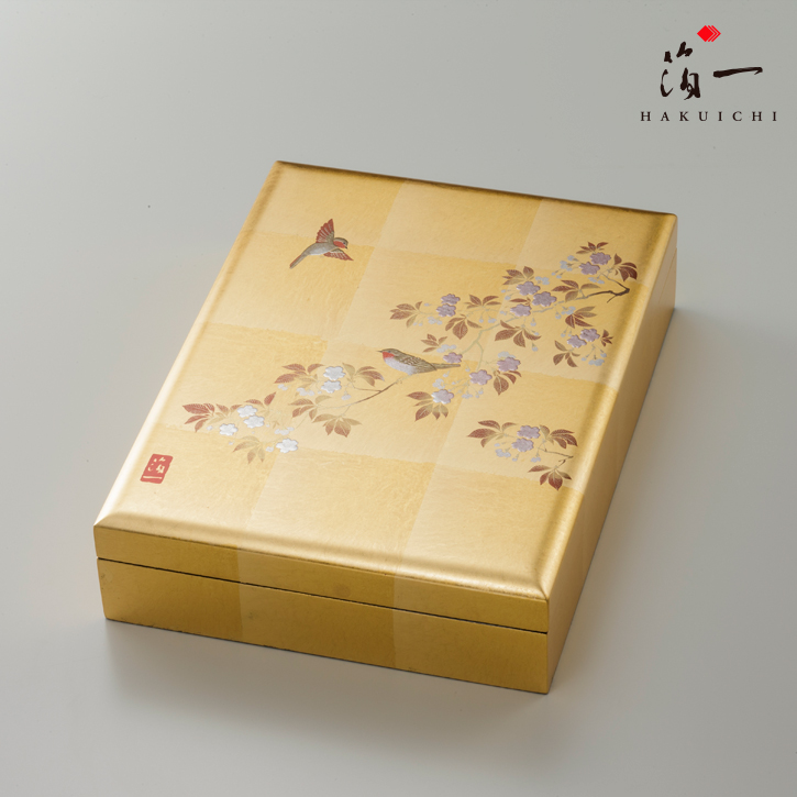 【日米首脳会談のギフトに選ばれました!】花見鳥 手許箱(B5サイズ)【楽ギフ_のし】【楽ギフ_包装選択】