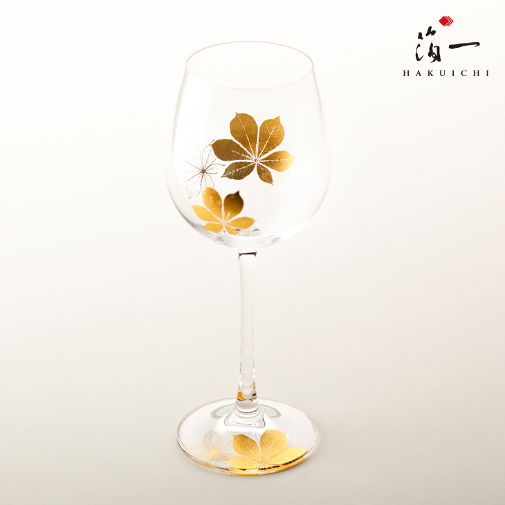 SHIZUKU ワイングラス(楓)|金沢金箔の箔一(はくいち)|