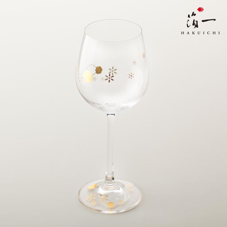 【本物保証】 SHIZUKU ワイングラス(雪紋)|金沢金箔の箔一(はくいち)|, アコウシ 530de5ca