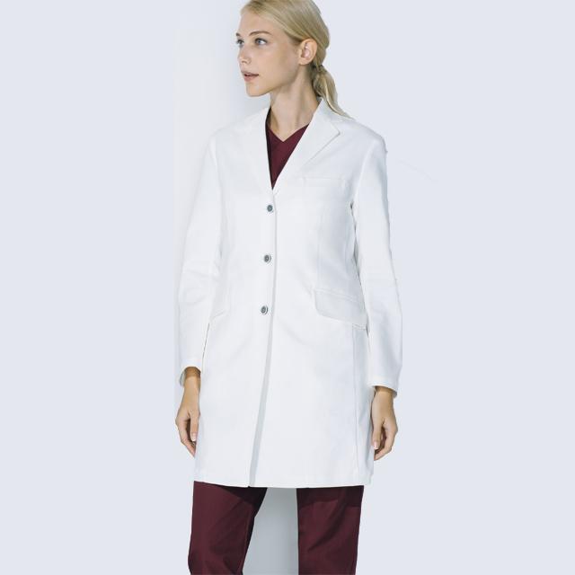 UN-0079 UNITE ユナイト チトセ CHITOSE ドクターコート 長袖 女性用 (白衣 診察衣 シングル ストレッチ 制菌 レディース 白衣ネット)