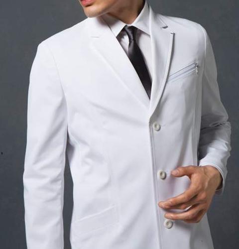 JK191 コシノジュンコ メンズ ドクターコート(ロング) モンブラン 男子 診察衣 長袖 シングルボタンタイプ [送料無料] montblanc 通販 白衣ネット)