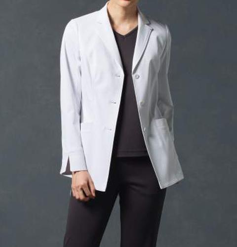 JK114 コシノジュンコ レディス ドクターコート(ジャケットタイプ) モンブラン 女子 診察衣 長袖 シングルボタンタイプ[送料無料] montblanc 通販 白衣ネット)