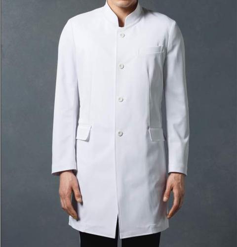 JK193 コシノジュンコ JUNKO KOSHINO JUNKOuni メンズ ドクターコート(ロング・スタンドカラー) モンブラン(MONTBLANC) 男子 診察衣 長袖 シングルボタンタイプ 白衣ネット)