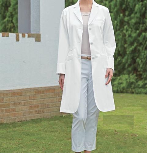 KZN410 BIANCA BY KAZENカゼン レディス診察衣シングル型 長袖白衣 (白衣 医療用白衣 医師用 ドクター 女性 白 ホワイト 女性用 白衣 診察衣 通販 白衣ネット)