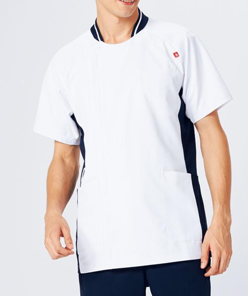 UQM1008 ルコックスポルティフ lecoqsportif メンズジャケット(白衣 男子 ナースウェア 介護 男性用 病院 医院 クリニック ストレッチ] 白衣ネット)
