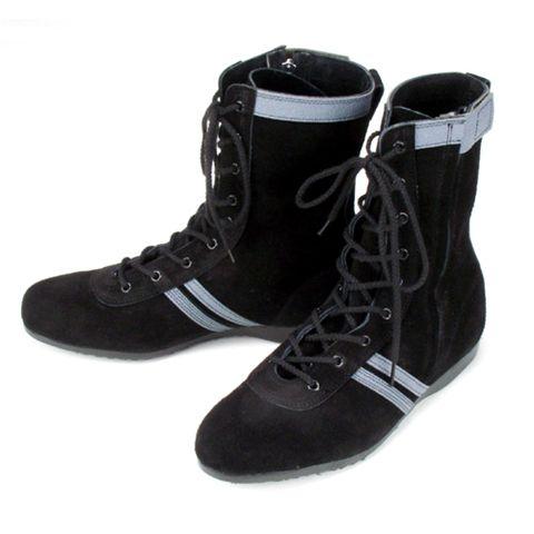 安全靴 高所作業用 技F-1 黒×グレー ATENEO 青木産業(wazaf-1aoki)