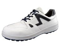 安全靴 シモン 8611白ブルー SX3層底Fソール 安全靴スニーカー