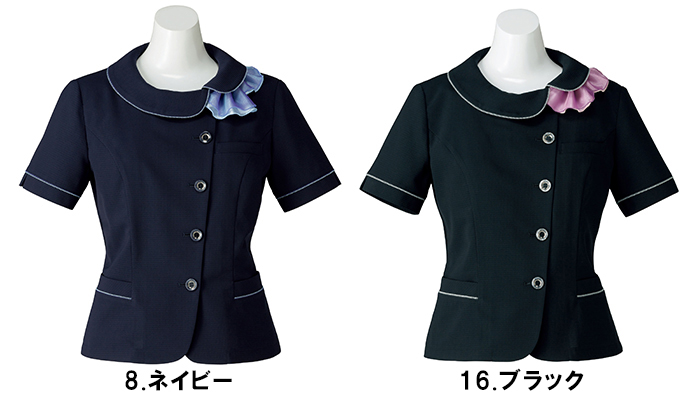 BONMAX ボンマックス AJ0837 オーバーブラウス17号~21号事務服 制服 【代引き不可】