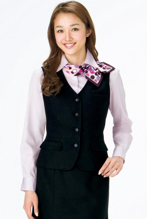 事務服 女性 BONMAX ボンマックスRB4136 Rizal長袖ブラウス7号~15号制服 【代引き不可】