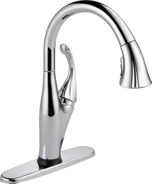 DELTA delta Addison kitchen faucet touch faucet single lever chrome  9192T-DST touch sensor shield spray