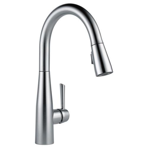 正規品 水栓 デルタ 混合 シングルレバー 輸入水栓 エッサ DELTA ステンレス キッチン 節水 9113-AR-DST