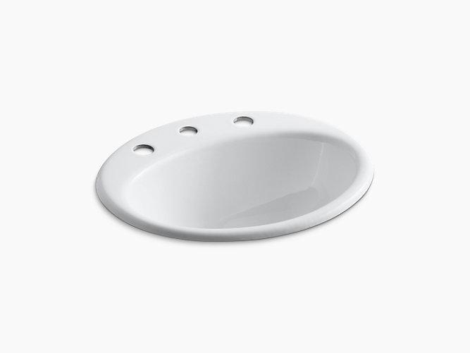 KOHLER/コーラー ファーミントン 洗面ボウル ホワイト K-2905-8-0