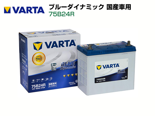 VARTA 国産車用 ブルーダイナミック75B24R
