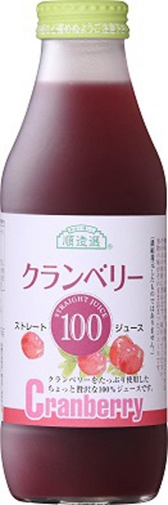 送料無料 順造選 クランベリー100 500ml 瓶×12本入