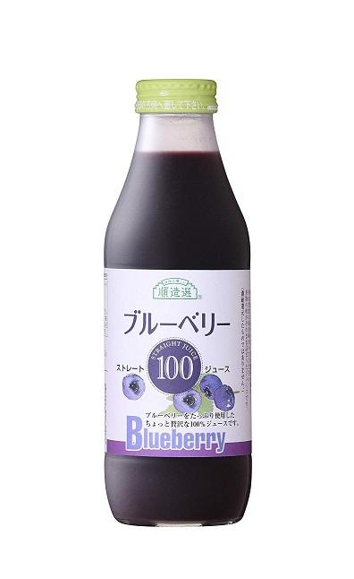 順造選 ブルーベリー100 500ml×12本 マルカイコーポレーション マルカイ 国産ドリンク 国産フルーツジュース 国産ジュース 有名メーカー 健康 ジュース 大容量 瓶 おいしいジュース 飲みやすい