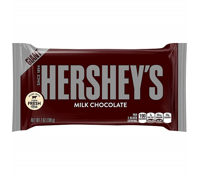 送料無料 ハーシー ジャイアント ミルクチョコレート198g×24箱