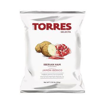 トーレス イベリコハム風味ポテトチップス 50g×20袋 原産国名スペイン 輸入ポテトチップス スペインのスナック 輸入菓子 海外ポテトチップス 海外スナック 高級ポテトチップス