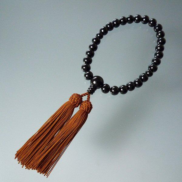 ネコポスもOK 男性用の安い数珠 念珠です 材質は黒檀 こくたん になります 数珠 念珠 男性用数珠 略式念珠 あす楽対応 黒檀27珠 新商品 新型 安い数珠 お得用数珠 ストア 片手念珠