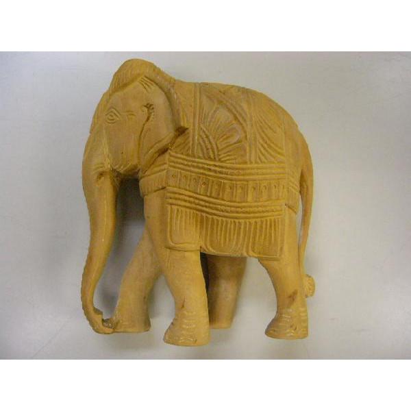香木白檀 彫刻「白檀象(小)」 置物 サンダルウッド【送料無料】
