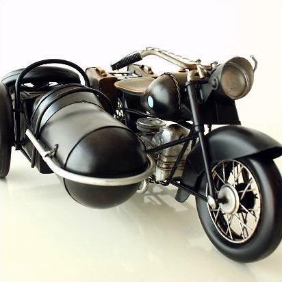 アンティーク レトロ 車 バイク 置物 おしゃれ ブリキのおもちゃ アイアン 鉄 アメリカン雑貨 インテリアオブジェ アンティーク風 雑貨 かっこいい 置物 小物 男性 誕生日プレゼント 贈り物 アンティーク調 車 置物 American Nostalgia サイドカー A