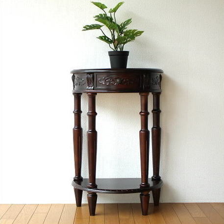 Console Table Antique Furniture Door Shelf Flower Phone Units Clic European Interior Fashion Sculpture Semi Circular Drawer Completed Semicircle