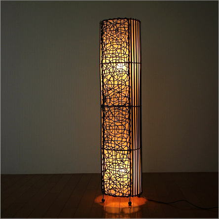 Hakusan rakuten global market asian lighting stand light floor asian lighting stand light floor stand floor litratambambeu long japanese modern living stylish interior floor lamp rattan cylindrical lamps aloadofball Images